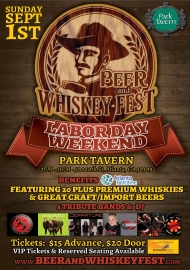 Half price VIP tickets for the 9th annual Beer & Whiskey Fest