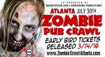 Zombie Pub Crawl General admission is 50% off (usually $30--only $15!)